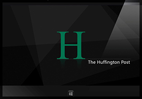 Work commissioned from UICentric UK ( http://www.uicentric.com/ ), to create a new Windows 8 Mobile app for The Huffington Post